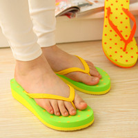 Flip Flops Men EVA 3770 Korean wave point home summer hit color color cute thong sandals slope with sandals slippers wholesale drag
