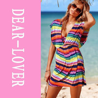Chiffon Above Knee Women skirt Cover-Ups & Beach Dresses Rainbow Beach Cover-up for Bathing Suit LC40426 Free Shipping Cheaper Price Fast Delivery