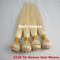 100g Brazilian Hair Blonde 3 Bundles Blonde Hair Extensions 7A High Quality Grade Straight Brazilian Human Hair No Tangle,No Shedding,Can Cut and Bleach