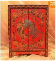 Wood Beijing China (Mainland) Folk Art Fine Chinese Tibet LARGE folk Dragon-phoenix Furniture by EMS Free shipping