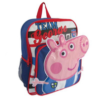 Wholesale Children s fashion School bags Lovely Peppa pig Backpack Nylon book bags girls cartoon backpacks