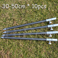 Ultra Light Under 6 Feet Carbon Wholesale Carbon fishing bank sticks fishing rod pod fishing holder for carp fishing tackle 10pcs lot(30-50cm)