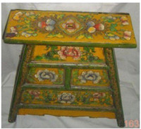 Wholesale TIBETAN wood painted FURNITURE Chairs by EMS AAADDD