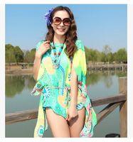 Wholesale 2014 New Bohemia multicolor circle bikini mantle chiffon beach towel ultra thin blouses batwing sleeve plus size beach clothing swimwear