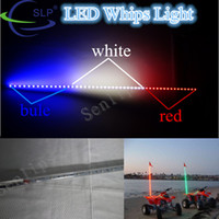 Wholesale 6 feet Whips LED lighted supply for atv utv mix blue white and red color light ATV UTV Sand Rail led light awhip
