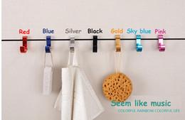 Wholesale Hot aluminum alloy hook D color clothes racks wall hanging hook hanger coat rack Home Décor