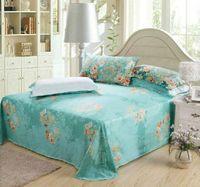 100% Cotton Reactive Printing Woven 3d green bed sheet set floral printed bedding set 4pc comforter quilt Duvet set covers 100% Cotton bed Linen sets Queen size