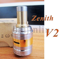 Replaceable 1.6ml Metal Zenith v2 atomizer update RBA RDA for 26650 18650 battery mods of ecigs rebuilable coil and airflow control zenith vaporizer baijinlin clone