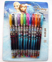 Wholesale Hot sale set Frozen Princess Anna Multi Color Ballpoint Pens Frozen Elsa Stationery Set Toys