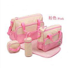 Wholesale Mother infanticipate mummy Babies bags fashion nappy bag multifunctional double shoulder cross body piece set