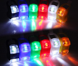 six generation Silicone Bike Bicycle Cycling Head Front Rear Wheel LED Flash Light Lamp