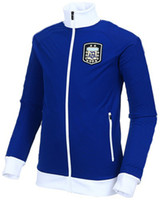 Soccer argentina tracking - Champion Argentina Track Top World Cup Soccer Jacket Top Quality Cheap Outdoor Jacket Uniforms Hot Sale Athletic Wear Soccer Kits