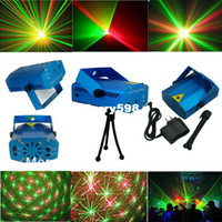 other active housing - free dhl High Quality New Blue Mini LED Laser Projector DJ Disco Bar Stage House Lighting Light Galaxy