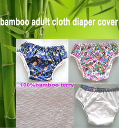 Wholesale 2 color chioce waterproof Adult cloth diaper cover Nappy nappies bamboo diaper diapers S M L