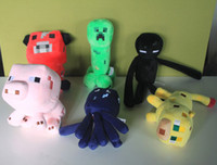 Wholesale Retail Minecraft JJ set Squid Creeper Enderman pink pig cow Ocelot Cute plush toy stuffed doll cm