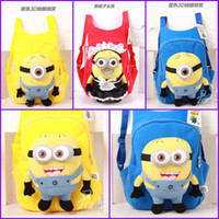 Wholesale Despicable Me god steal milk dad minions schoolbag five styles plush toy cartoon yellow packbag Backpack Christmas Children s Gifts