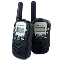 Wholesale Children Walkie Talkie With Light Retevis RT UHF MHz W CH LCD Display Flashlight VOX Two Way Radio A7027A