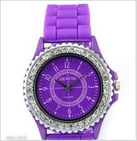 Unisex crystal watches - 10 Geneva Watch Geneva Watch Women Fashion Bling Crystal Rhinestone Bezel Geneva Silicone Rubber Jelly Watch luxury watches
