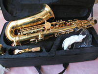 Wholesale Gold Woodwind alto Saxophone free case Very beautiful