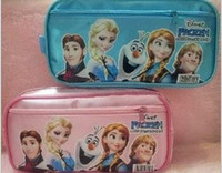Backpacks Unisex Other Retail Stock Hot sale 2014 princess Elsa anna Pencil case Bag Red NEW Children Girl's Cartoon Fashion Pencil Bag.