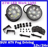 Wholesale 2x W LED Work Light Flood Beam OffroadTractor Truck SUV ATV Fog Driving car light v v