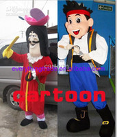 Mascot Costumes Unisex Animal 2014 Hot Sale Jake and Hook (neverland pirates) mascot Costume Fancy Dress Suit Outfit Paprty costume Free Shipping