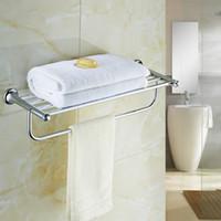 Wholesale Desire Crystal Brass Towel Rack Towel Bars Chrome Finished Towel Rack Bathroom Hardware Bathroom Accessories