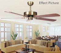 Ventilador de techo techo antiguo Breve Modern Fan White Oak viruta aliso nudoso Viruta aficionados o hierro Hojas aficionados envío gratuito
