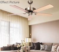 Revisiones Ceiling fan-Ventilador de techo techo antiguo Breve Modern Fan White Oak viruta aliso nudoso Viruta aficionados o hierro Hojas aficionados