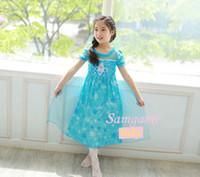 2014 new summer girls dress princess birthday party dress FR...