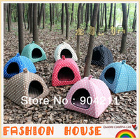Wholesale 2013 NEW colors good quality Pet dog cat bed tent nest kennel yurt house home gifts