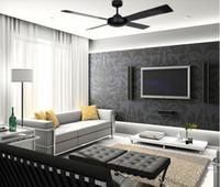 Ventilador de techo Breve Moderno techo elegante Fan Negro / Plata Madera Hojas Abanicos envío gratuito