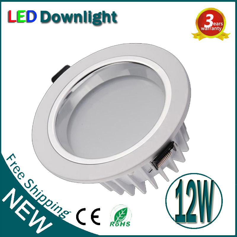 12W Dimmable LED Downlight Garantie 3 ans de haute luminosité LED Down lumière C