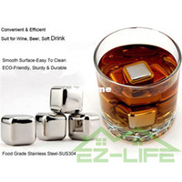 Wholesale Big size cm SUS304 Stainless steel ice stone whiskey beer rocks bar physical cooling wine ice cube