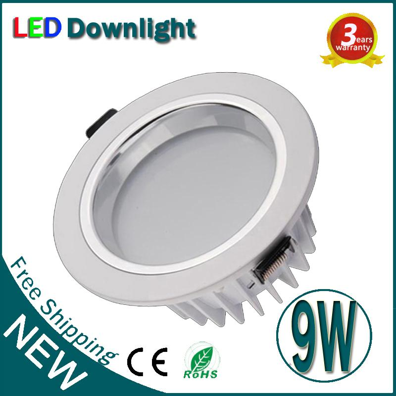 9W Dimmable LED Downlight plafond encastré COB garantie 3 ans Super Bright LED D
