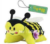 Cheap Free Shipping 3sets lot Educational DIY Plush Craft Bumble Buddy, Novelty Plush Animal Pillow With EVA Stickers