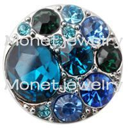D00383 newest design rhinestone noosa rhinestone jewelry
