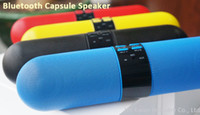 Wholesale Capsule Pill Loud Sound Bluetooth Stereo Speaker Extendable bass tube Built in mAh Battery Grade A battery core Wireless Speaker