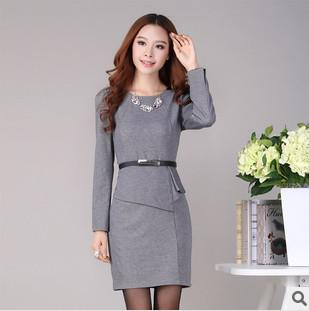 V Neck Knee Length Work Formal Career Dresses Mini Womens Business Clothing Column from Colorful_day,$61.75 | DHgate.com