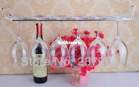 Wholesale European stainless steel wine cup holder wine rack stemware holder high quality cup holder one row