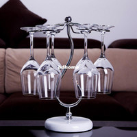 Wholesale W02 Metal wine glass rack wine rack hanging cup rack cup holder mini bar