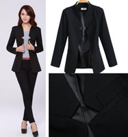 100% Linen Shorts Women jumpsuits 2014 Fashion Business Suits For Office Ladies black color Formal Suits for women ladies Slim Career blazer Pants Suits set J0876