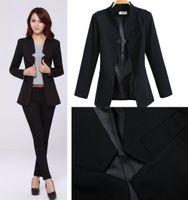 100% Linen Shorts Women jumpsuits 2014 Fashion Business Suits For Office Ladies black color Formal Suits for women ladies Slim Career blazer Pants Suits set J0876