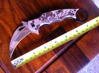 Folding Blade fox claw karambit hunting folding knife  free shipping! new hot sale! fox claw camouflage karambit quality folding camping hunting survival knife