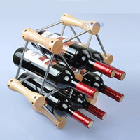 Wholesale DIY Wine Rack System Beech Bar Stainless Steel Hollow Tube Wine Bottle Rack Holder JNC WH01