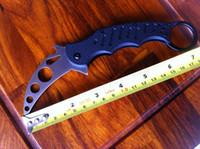 Folding Blade fox training knife  free shipping!hot sale!high quality fox training knives, folding no blade knife, claw karambit training knife