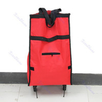 Folding Plain PP Free Shipping Foldable Rolling wheeled Shopping Bag Cart Trolley For Shopping Traval New