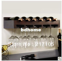 Wholesale Wall wine rack goblet wine glass rack cup holder cup holder wooden wine rack fashion