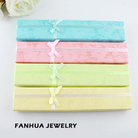 Wholesale Fashion Popullar Items Colorful Paper Long With Bowknot Necklace Jewelry Box Gift Package