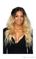 Ombre Color Brazilian hair Loose Wave Fashion Virgin Malaysian human hair two tone ombre color full lace wigs